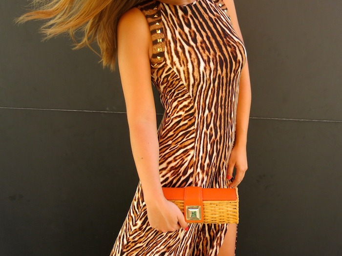 michael kors long dress leopard Amaras la moda 2