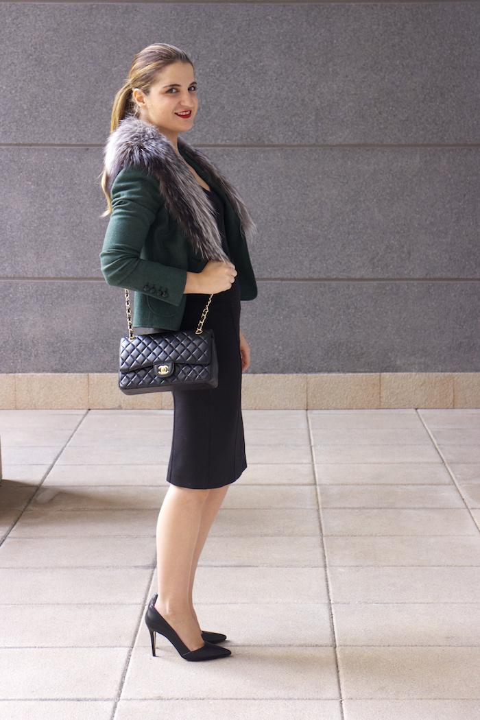 dolce gabanna jacket fox chanel bag pilar burgos shoes 5