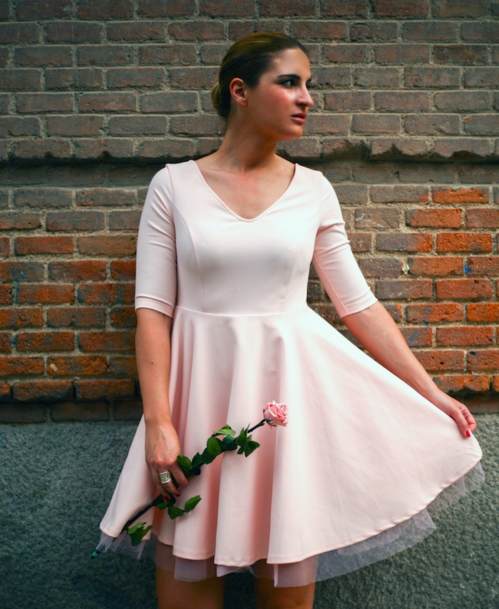 La Redoute pink dress tul amaras la moda ted Baker peeptoes 2