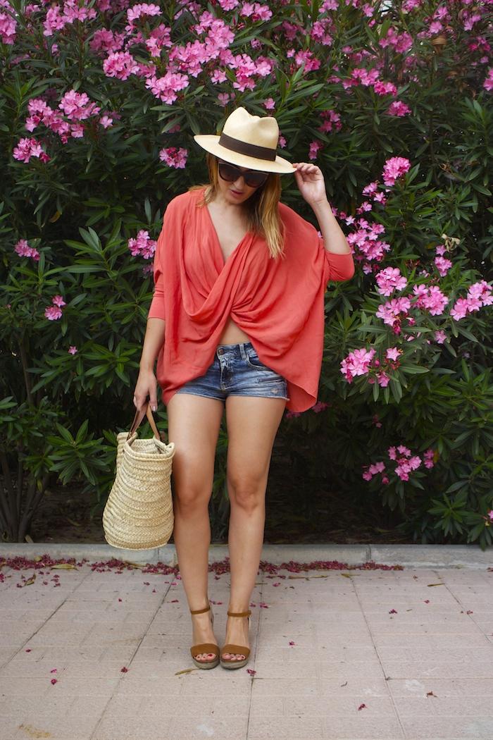 beach outfit amaras la moda  panama hat 4