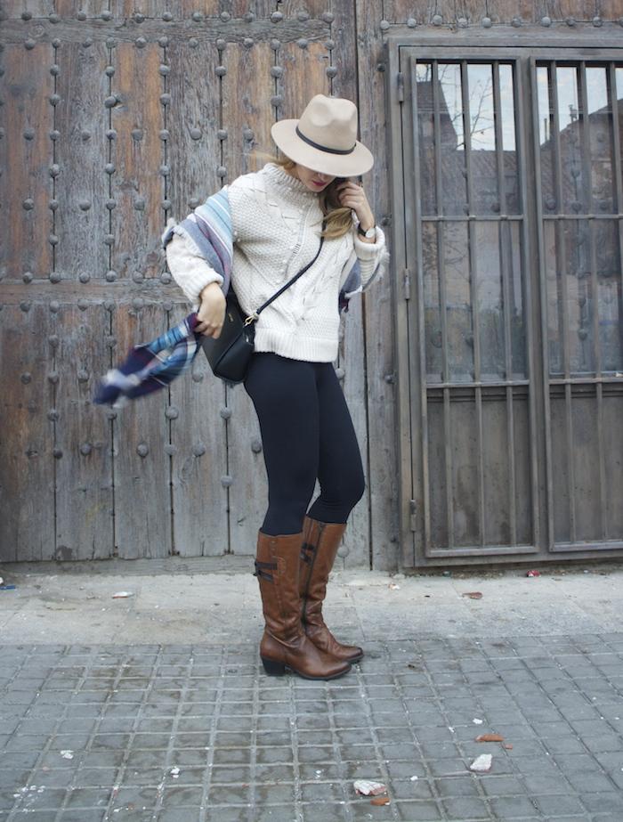 jersey La Redoute mallas calzedonia botas clarks foulard oysho amaras la moda Paula Fraile.8