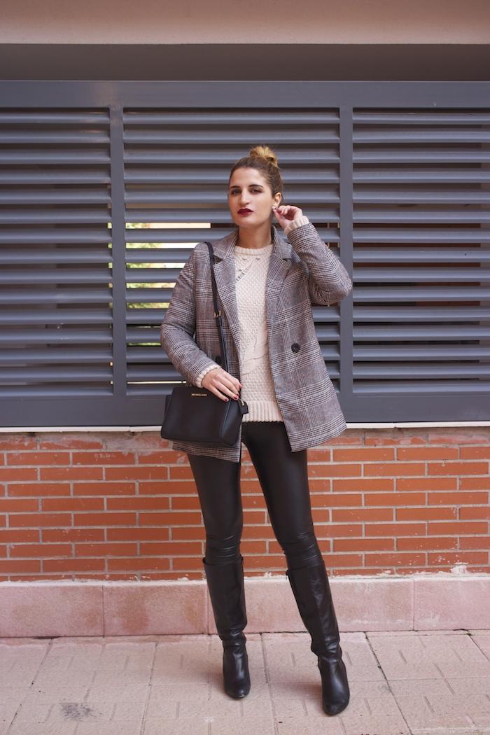 blazer leather pants michael kors bag amaras la moda paula fraile fashion blogger2