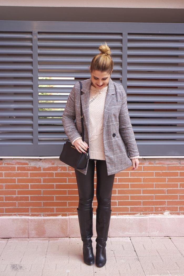 blazer leather pants michael kors bag amaras la moda paula fraile fashion blogger3
