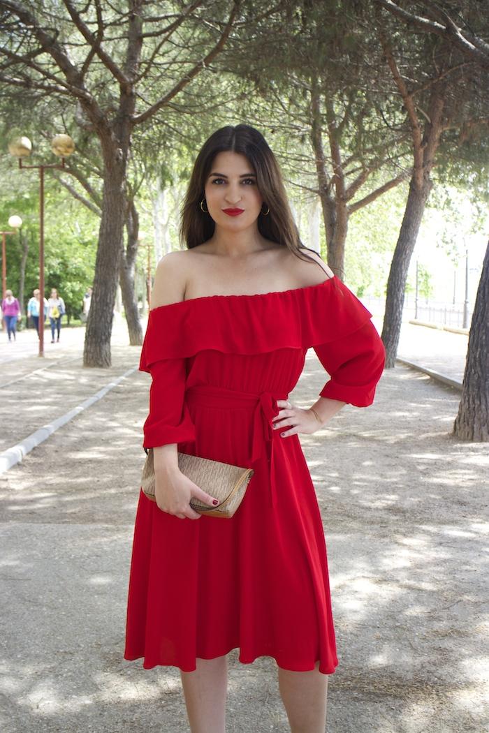 tintoretto mujer amaras la moda vestido rojo escote brigitte paula fraile stiletto sergio rossi.10