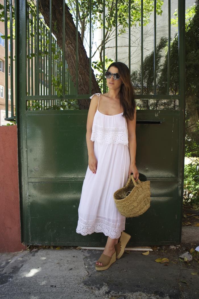 vestido ibicenco amaras la moda zuecos esparto paula fraile summer2