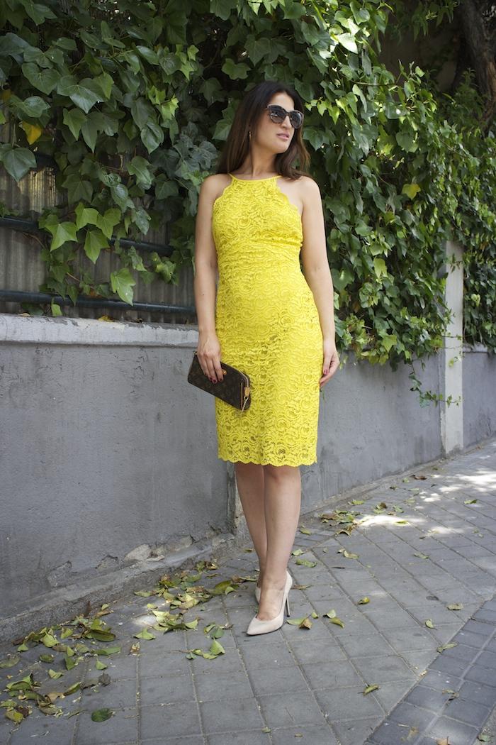 yellow dress zara amaras la moda chloe borel shoes louis vuitton bag paula fraile5