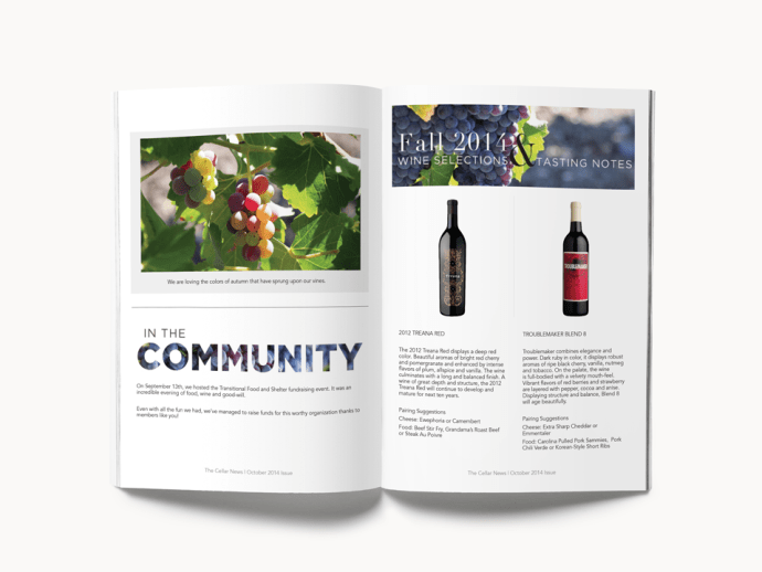 Amarie Design Co. Graphic Design Newsletters for Wineries Paso Robles California