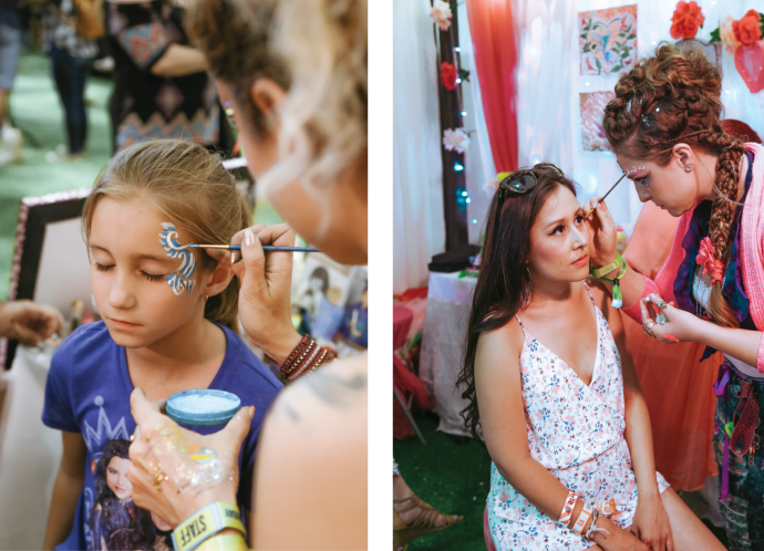 BottleRock Napa Valley Photography Portraits of C-Love Team Makeup Face Paint Artistry by Amarie Design Co.