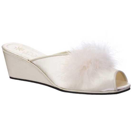 Pantofole da Sposa Claudia Avorio con Marabou