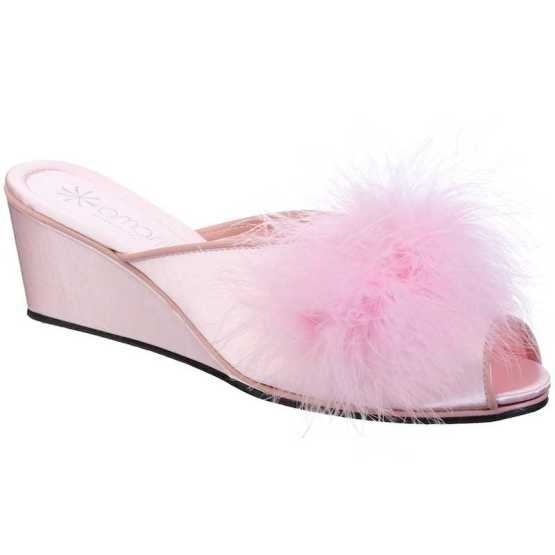 Pantofole da Donna Claudia Rosa con Marabou