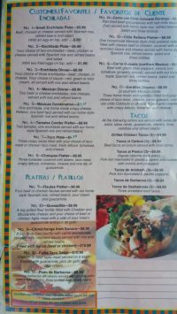 Patio Restaurant Menu
