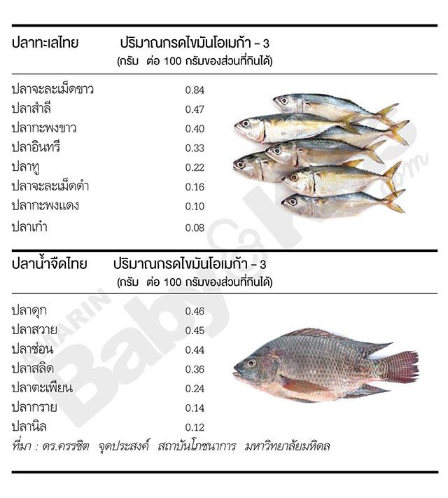 ปลาไทยโอเมก้า 3 สูง