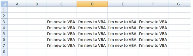 How to assign same value to more than one cell using Excel VBA range object