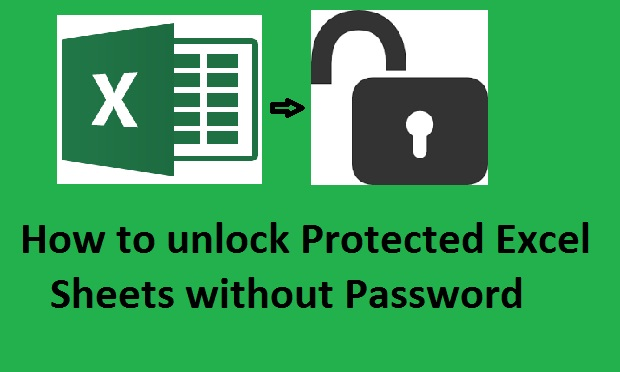 to unprotect excel sheet without Password – Unprotect Worksheet