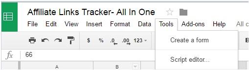 Affiliate links tracker