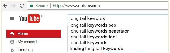 long tail keywords for youtube 3