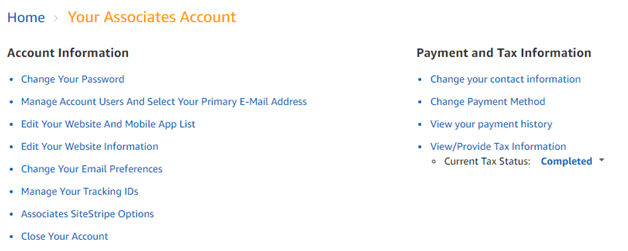 amazon affiliate payment settings payonner