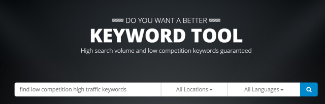find low competition high traffic keywords