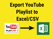 YouTube Playlist Export CSV Featured Image