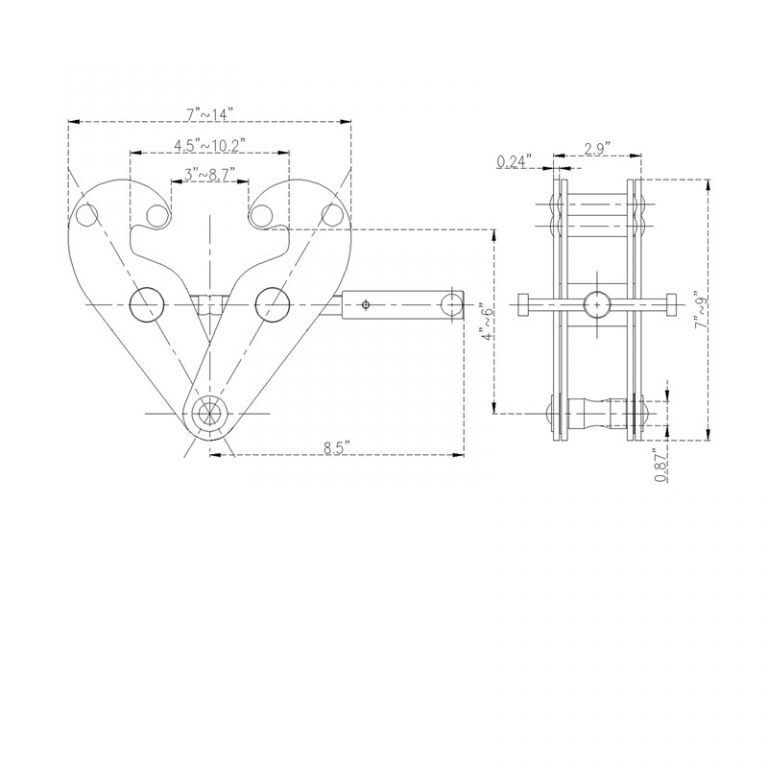 IYC1 beam clamp, universal beam clamp, clamp for