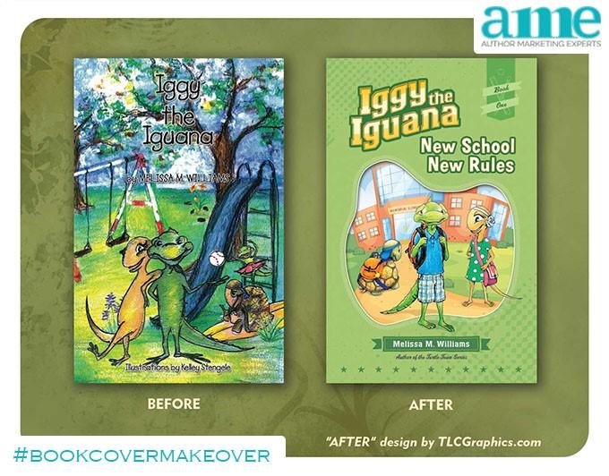 Iggy Iguana #bookcovermakeover | AMarketingExpert.com