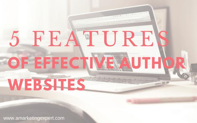5 Features of Effective Author Websites | AMarketingExpert.com