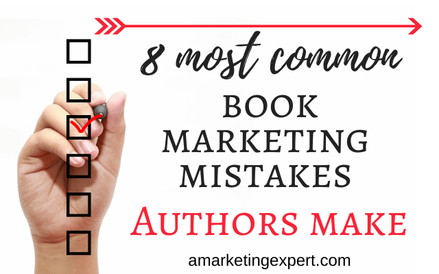 most common book marketing mistakes