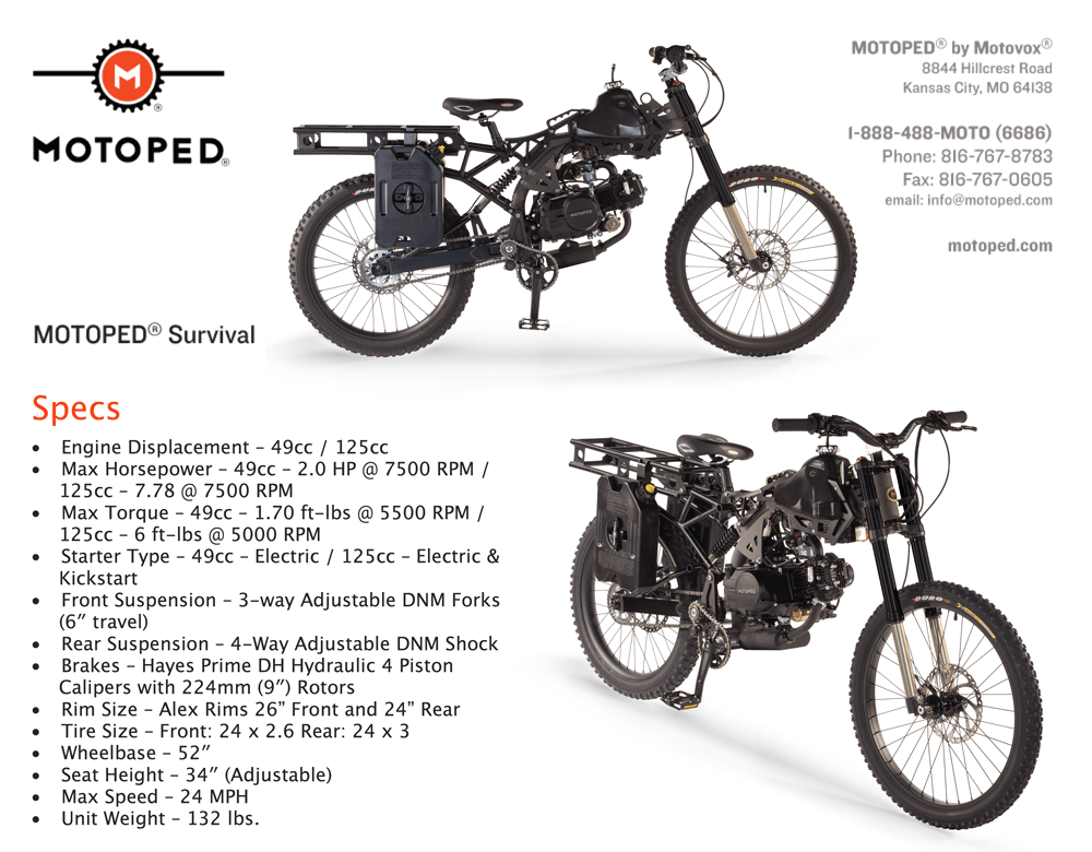 Motoped Moped Bike with Long Range ⋆ A MarketPlace of Ideas