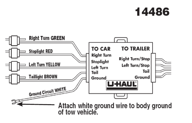 U Haul Wiring Harness - Service Repair Manual  Way Trailer Hitch Wiring Diagram on