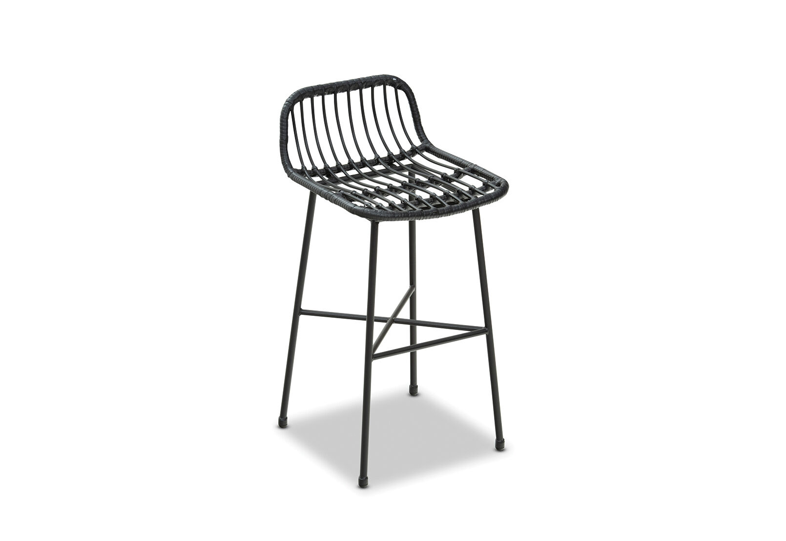 Black Amarillo Outdoor Bar Stool Amart Furniture