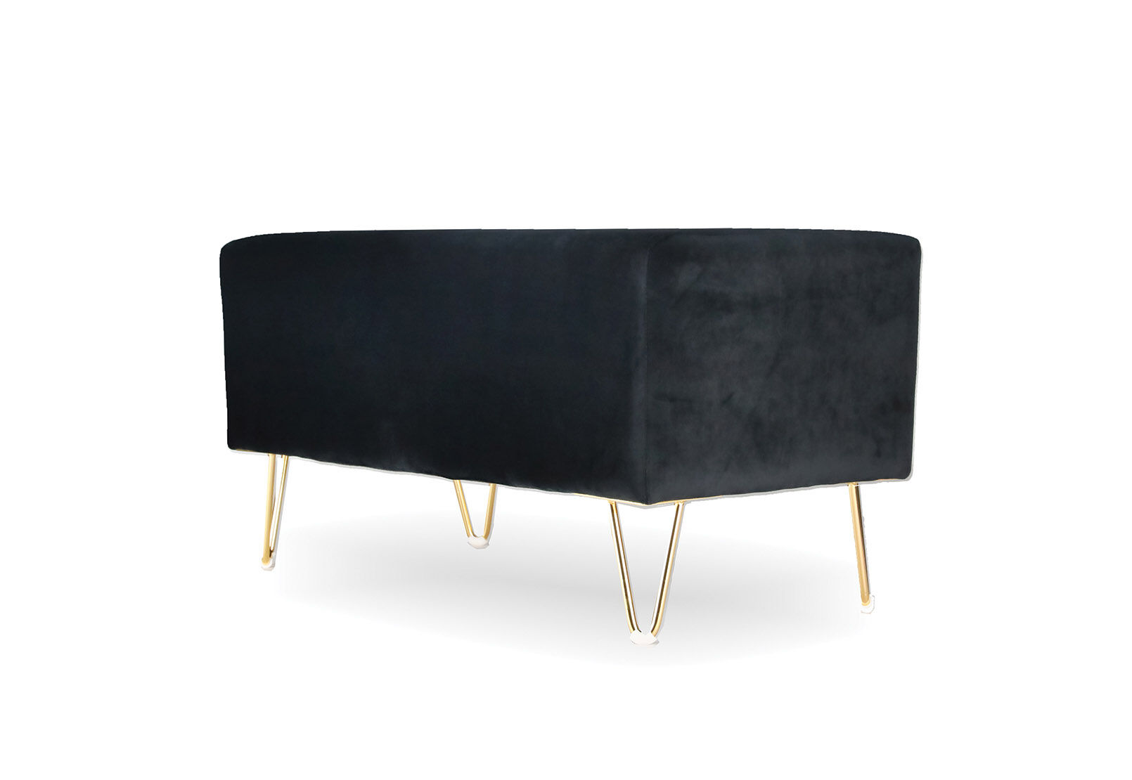 Black Enfield Black Upholstered Bench Amart Furniture