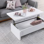 White Heben Lift Top Coffee Table Amart Furniture
