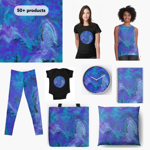 Products with marbling design