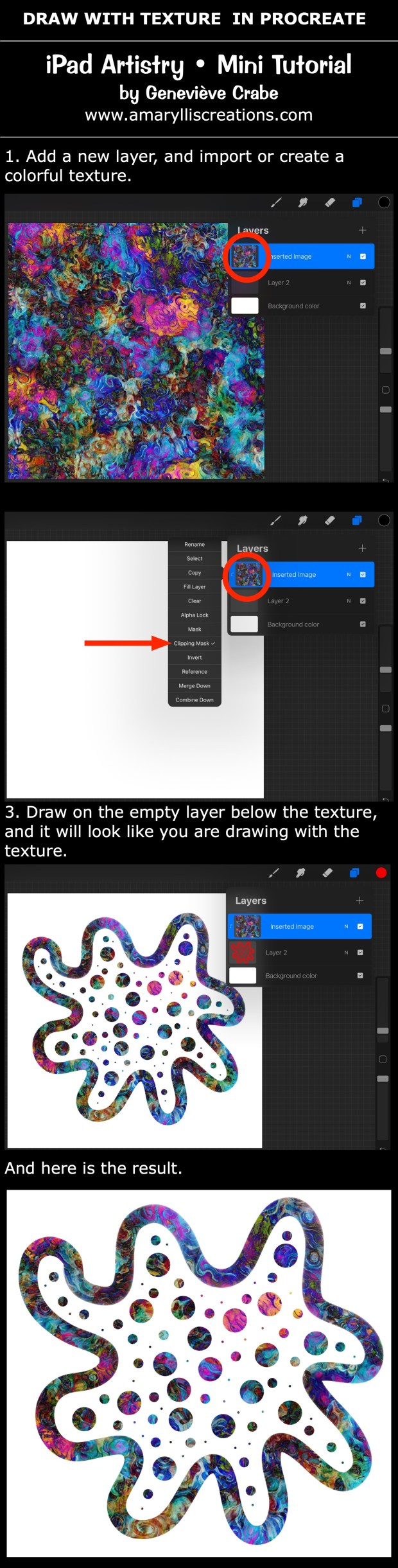Mini tutorial: Draw with a Texture in Procreate on iPad