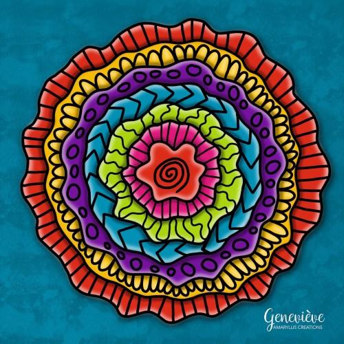 Digital mandala created in Procreate on iPad.