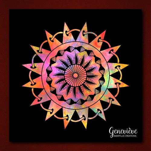 Digital mandala created in Procreate and Graphic on iPad.
