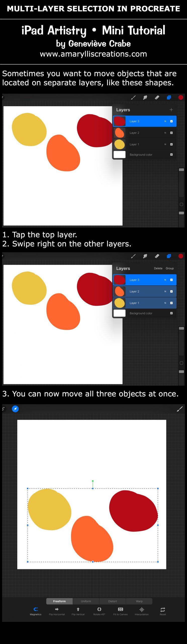 Mini tutorial: Multi-Layer Selection in Procreate on iPad