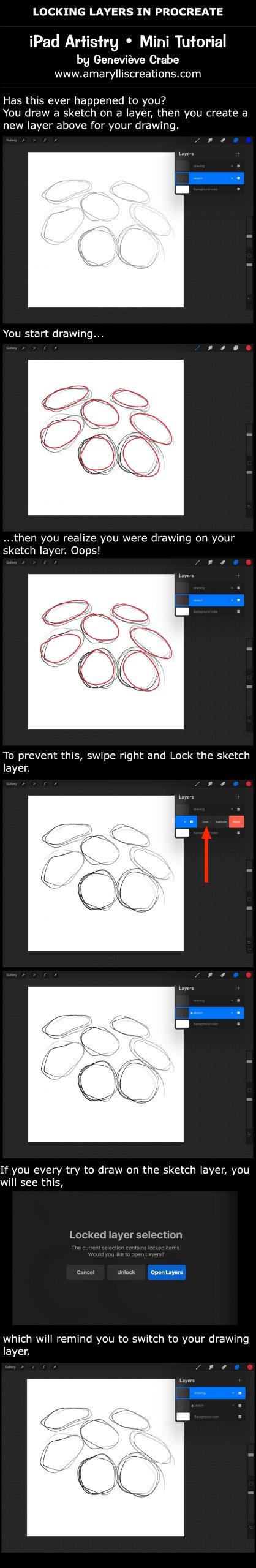 Mini Tutorial - Locking Layers in Procreate