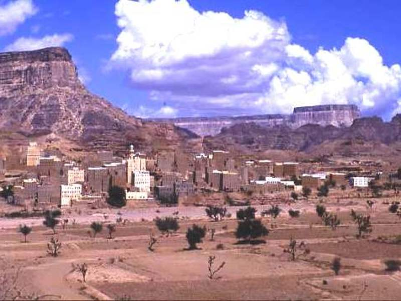 Mud brick tower houses Shibam, Hadramhaut Yemen