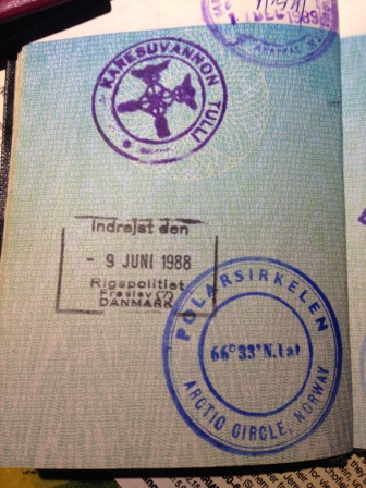 Passport stamps for fun