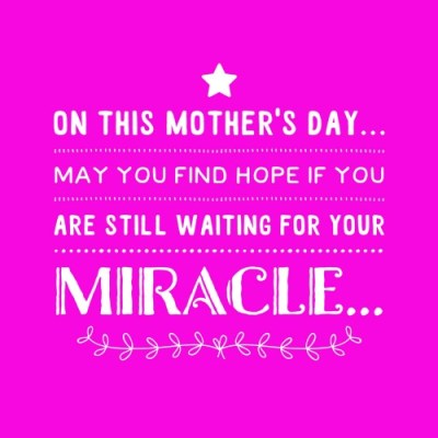 On This Mother's Day…