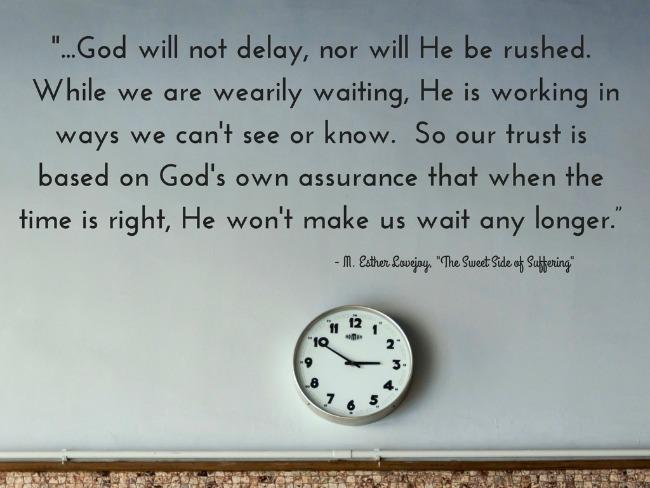 god will not delay