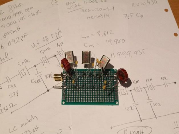 Kristalli 3.2 MHz prototip.