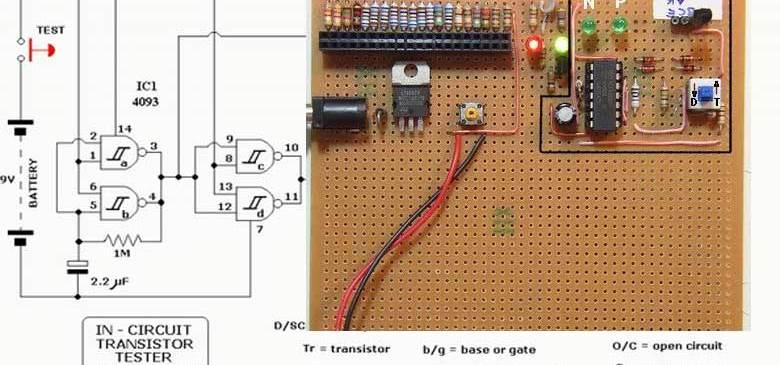 Transistör Test Devresi - Circuit transistor tester