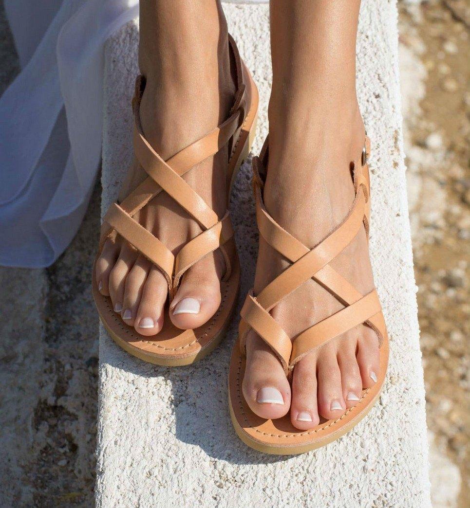 Gaia Greek Leather Sandal