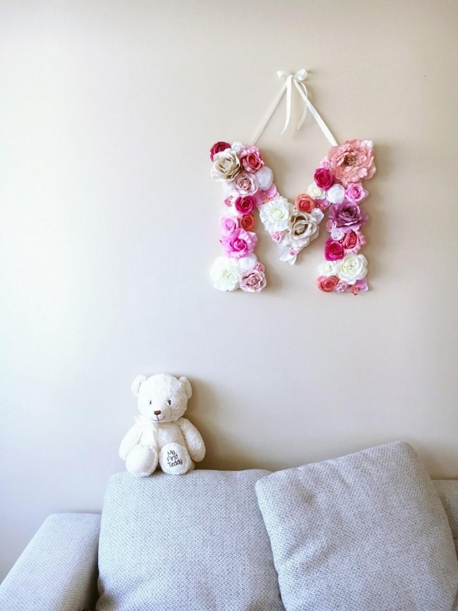 MSDAVF022 – Pink Shade Custom Flower Letter – PINK
