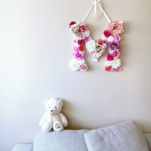 Completely handmade, the Pink Shade Custom Flower Letter is a great for decoration at a wedding using the couples initials, and a lovely keepsake for afterwards.