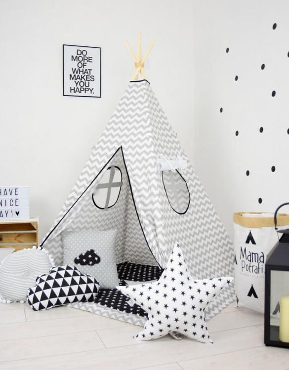 Add the perfect touch to your child's room with the Chevron Children's Teepee Tent. Let your little enjoy their own teepee for hours of play time and imagination.