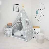 GREY DAY CHILDREN'S TEEPEE TENT | Decorative Kids' Play ...