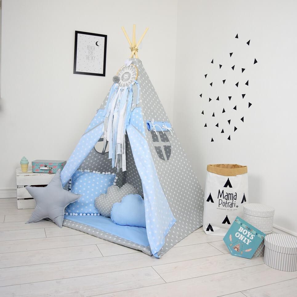 Ice Blue Children's Teepee Tent